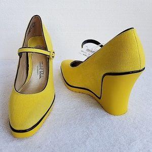 Isabel Toledo Womens Wedge Shoes SZ-9 NEW